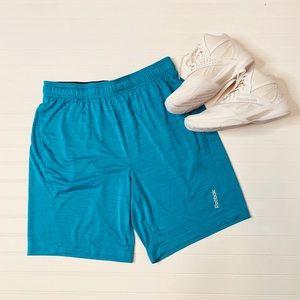 Rebook Marble Melange Drawstring Workout Shorts